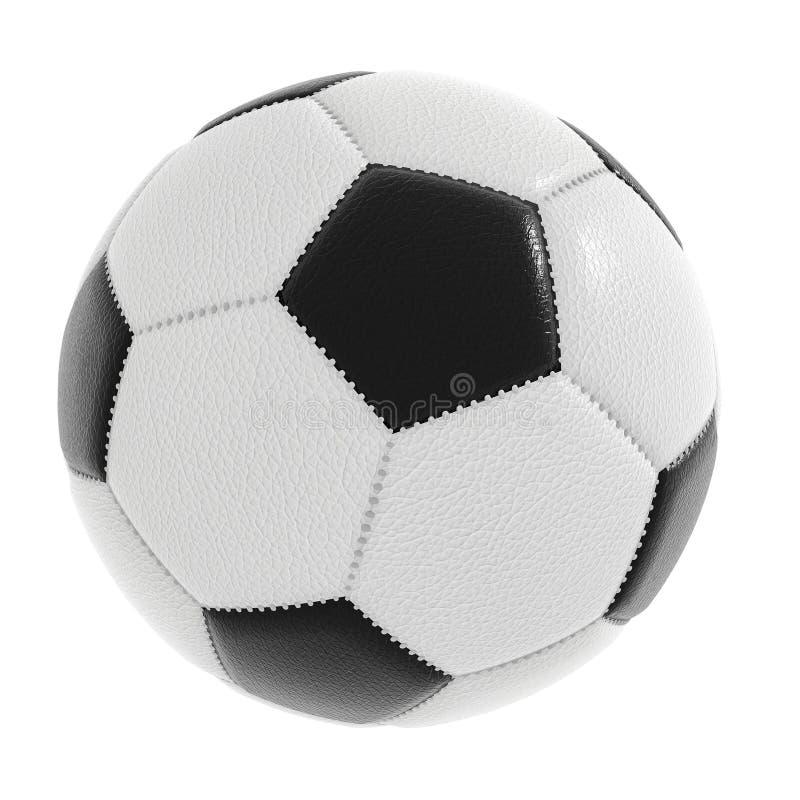 在与包括的裁减路线的白色隔绝的足球 免版税库存照片