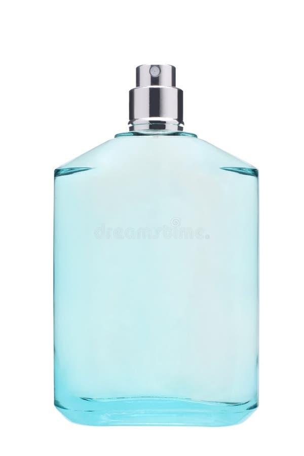 在与裁减路线的白色背景隔绝的香水瓶 库存照片