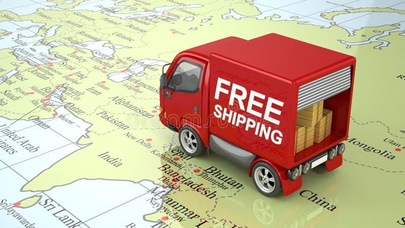 在世界的卡车 皇族释放例证