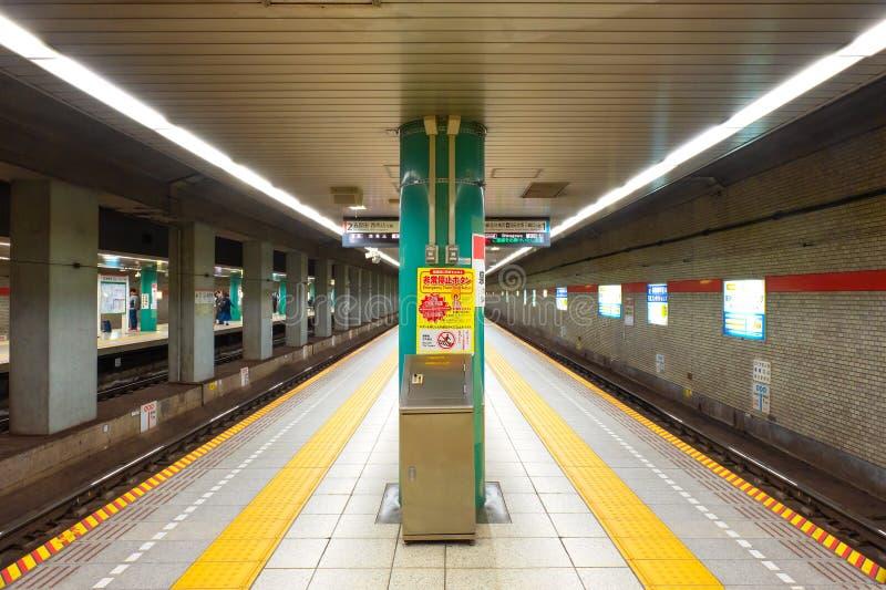 在东京地铁系统的一个隧道 免版税库存照片