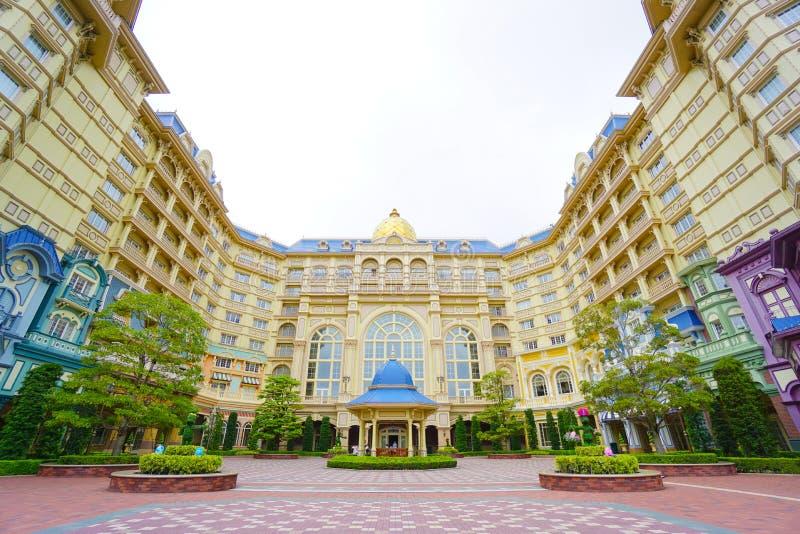 在东京的东京迪斯尼乐园旅馆迪斯尼乐园前面位于千叶,日本 免版税库存图片