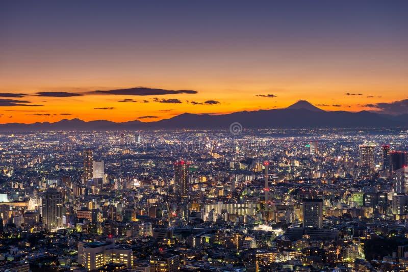 在东京的日落 图库摄影