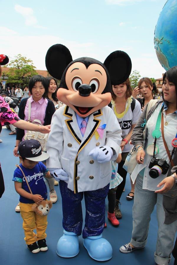 在东京迪士尼海洋游乐园的米老鼠 免版税图库摄影
