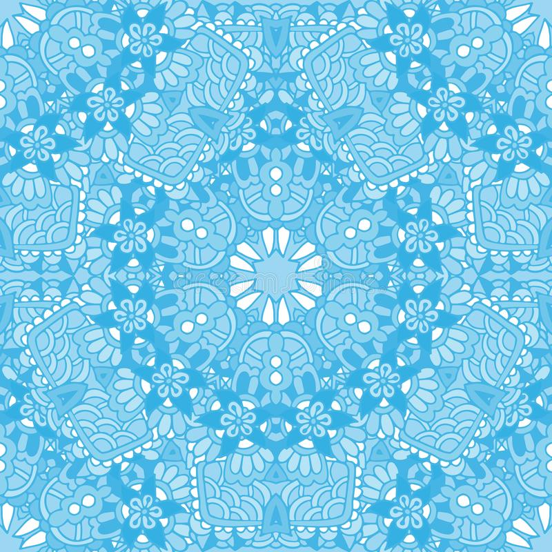 在东方几何无缝的样式的表面设计 皇族释放例证