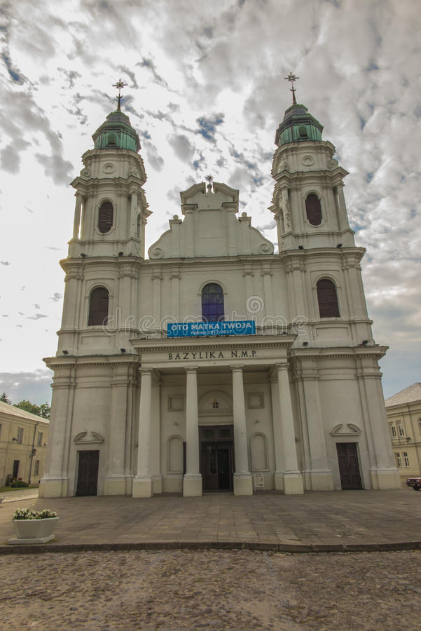 在东Pola的Chelm祀奉,圣母玛丽亚的大教堂 库存照片