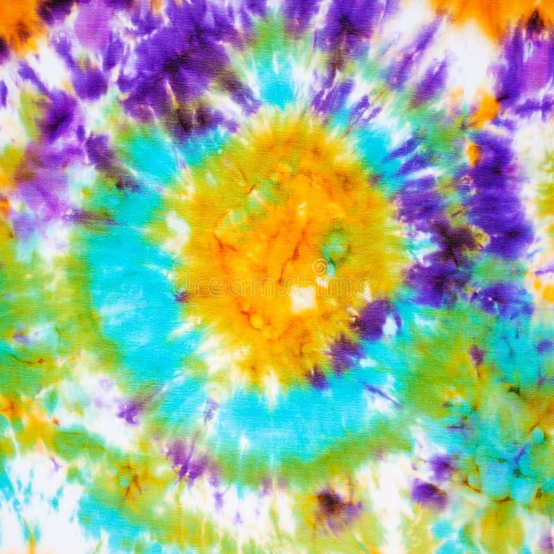 在丝绸蜡染布的抽象模式 向量例证
