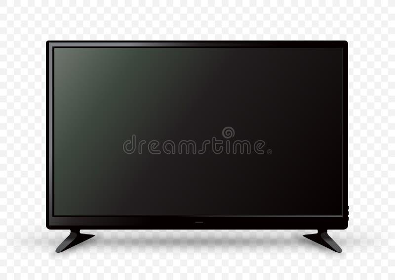 在两个持有人的大电视 向量例证