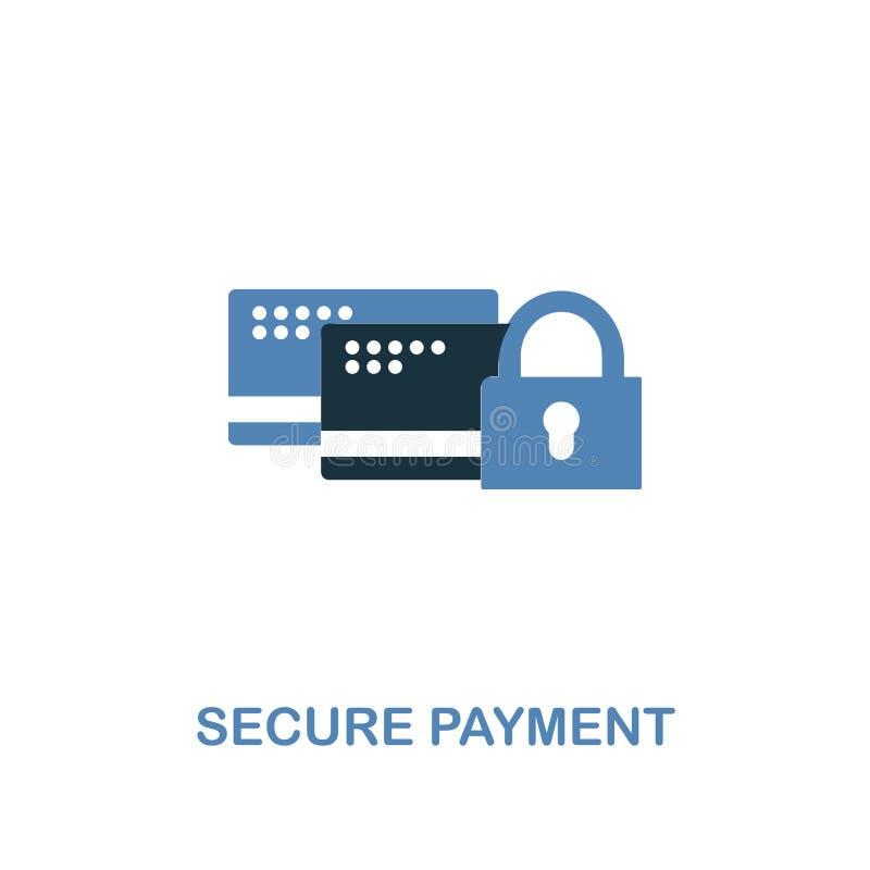 在两种颜色的安全付款象 从互联网安全象汇集的优质设计 安全映象点完善的简单的图表 向量例证