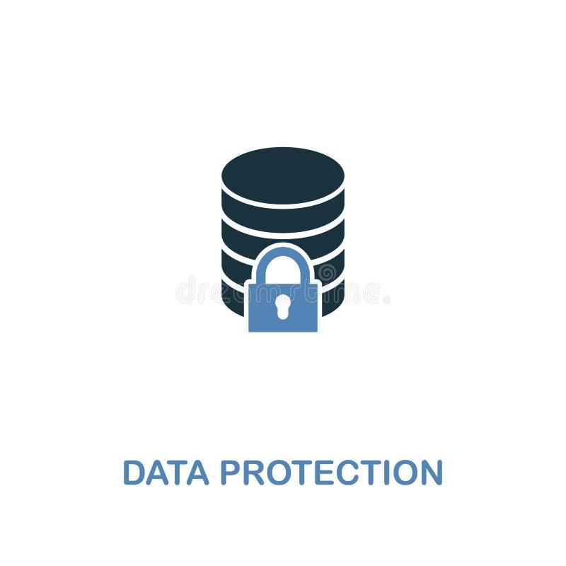 在两种颜色的数据保护象 从互联网安全象汇集的优质设计 映象点完善的简单的图表数据 库存例证