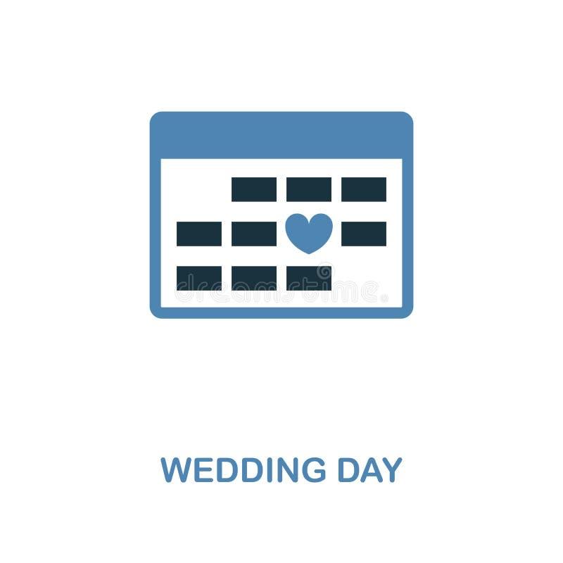 在两种颜色的设计的婚礼那天象 简单的元素例证 从蜜月汇集的婚礼那天创造性的象 对网de 库存例证