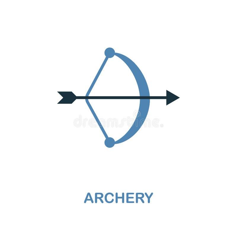 在两种颜色的设计的射箭象 简单的元素例证 从蜜月汇集的射箭创造性的象 对网络设计,ap 库存例证
