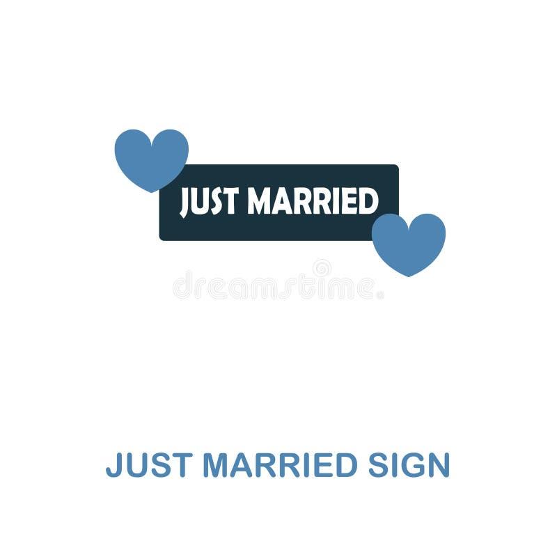 在两种颜色的设计的已婚标志象 简单的元素例证 已婚从蜜月汇集的标志创造性的象 皇族释放例证