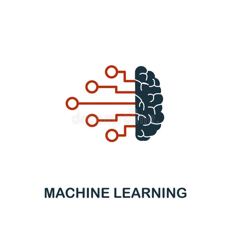 在两种颜色的设计的机器学习象 从机器学习象汇集的红色和黑样式元素 r 库存例证