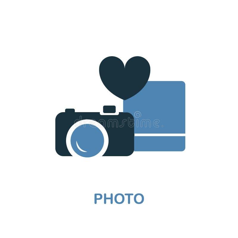 在两种颜色的设计的照片象 简单的元素例证 从蜜月汇集的照片创造性的象 对网络设计,应用程序, 向量例证