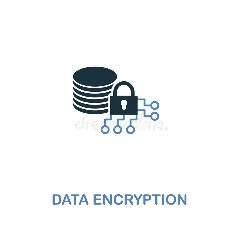 在两种颜色的资料加密象 从互联网安全象汇集的优质设计 映象点完善的简单的图表数据 皇族释放例证