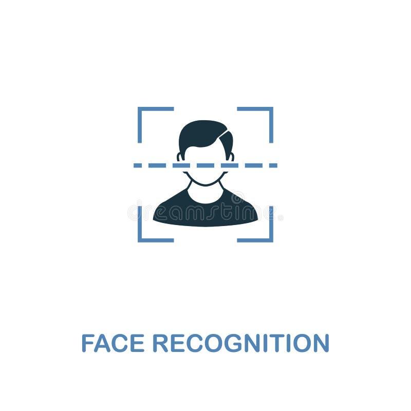 在两种颜色的面貌识别象 从互联网安全象汇集的优质设计 映象点完善的简单的图表面孔 皇族释放例证