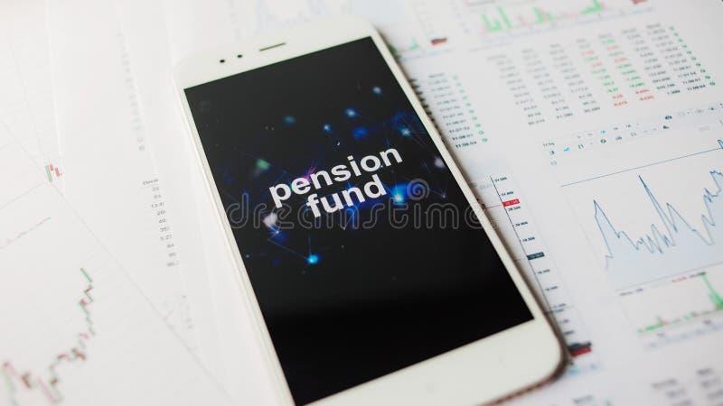 在个人养老金保险资金的投资,概念 福利供应在退休的 免版税库存照片