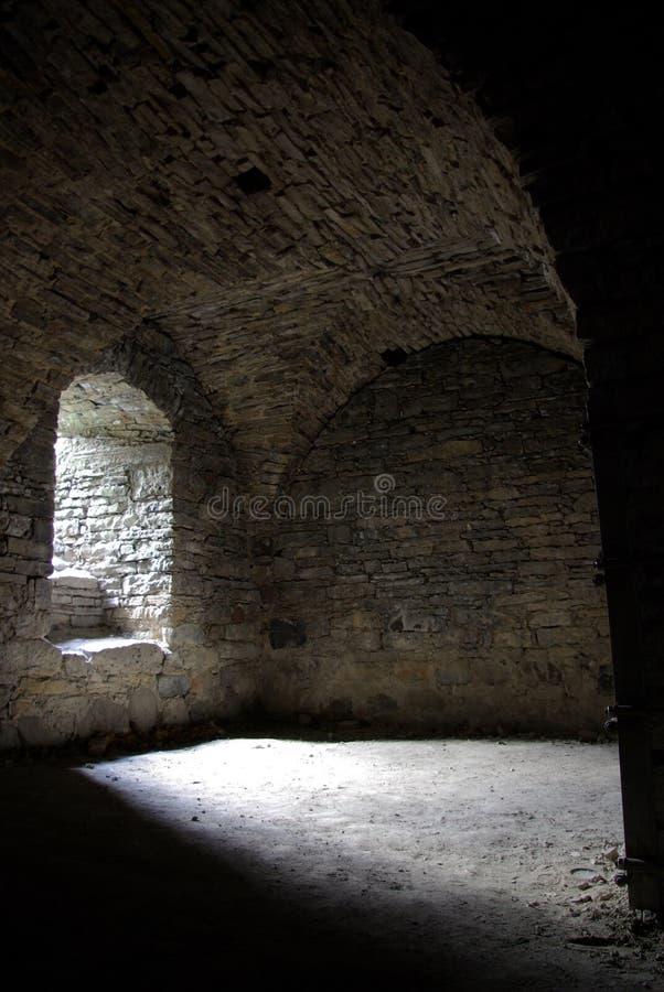 在中世纪里面的地窖 免版税图库摄影