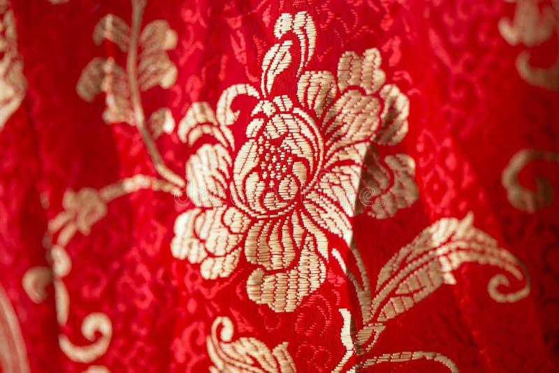 在中国刺绣样式的花卉样式 无缝背景的花 皇族释放例证