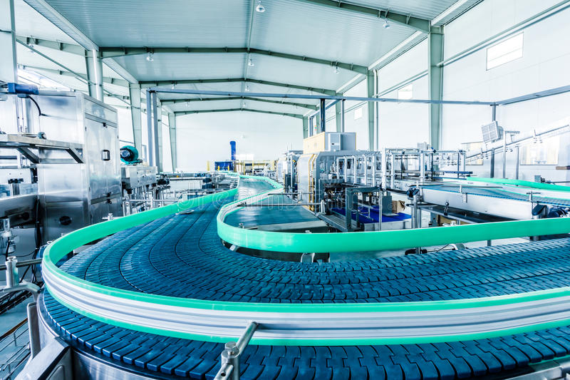 在中国喝生产设备 免版税库存照片