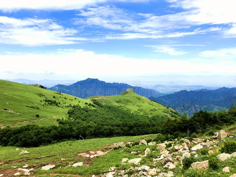 在中国的东南部的迁陵山 免版税库存照片