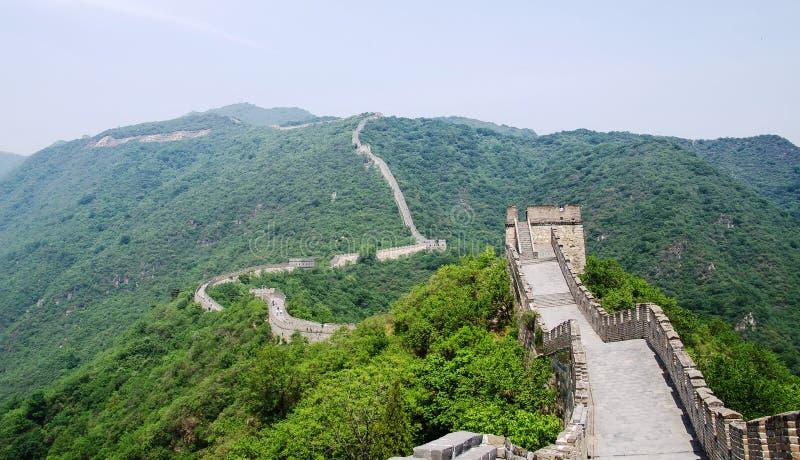 在中国长城的晴天 库存照片