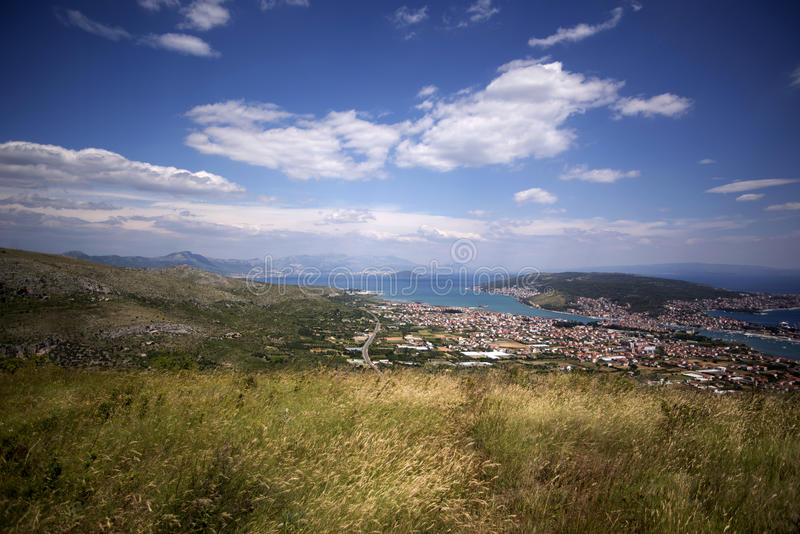 在中央达尔马提亚的看法 库存照片