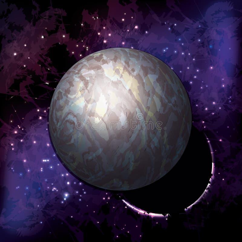 在中的一个宇宙行星 库存照片
