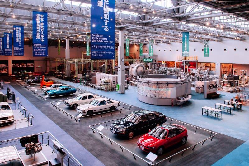 在丰田博物馆名古屋的老经典葡萄酒汽车模型展览- 图库摄影