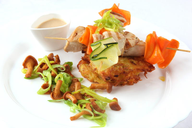 Download 在串和蘑菇的鸡 库存照片. 图片 包括有 新鲜, 胡椒, 路线, 背包, 理发店, 当事人, kebab - 72361910