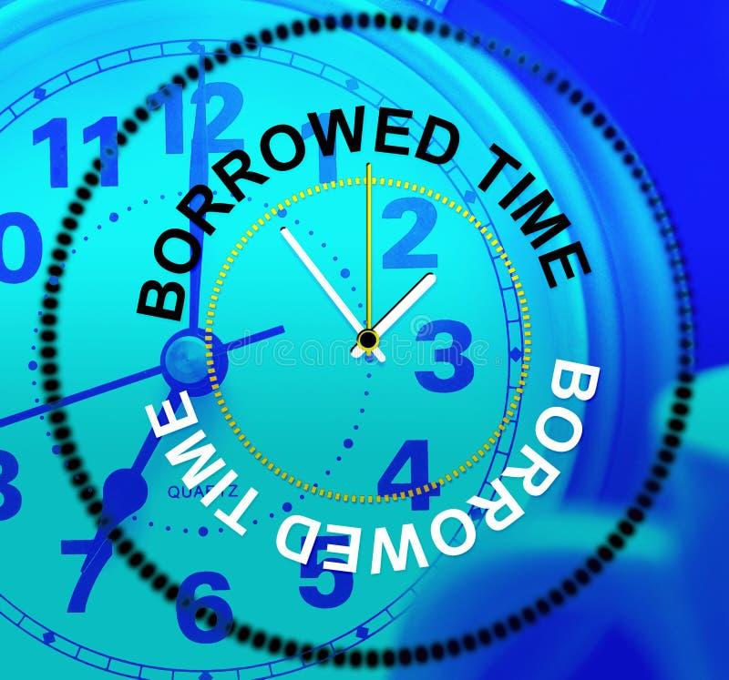 在为时和仓促的被借用的时间手段 库存例证