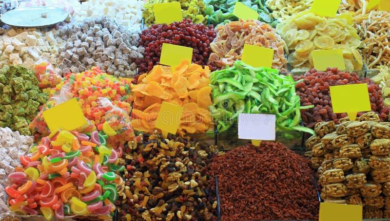 在义卖市场的东方甜点 免版税库存图片