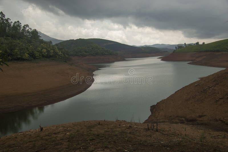 在乌塔卡蒙德,泰米尔・那杜,印度附近的著名水坝死水 库存照片