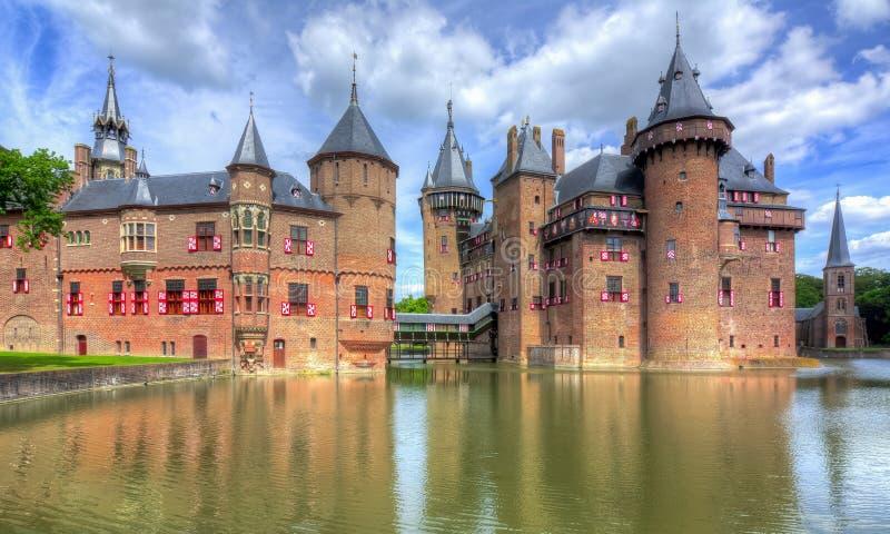 在乌得勒支,荷兰附近的德哈尔城堡 库存照片
