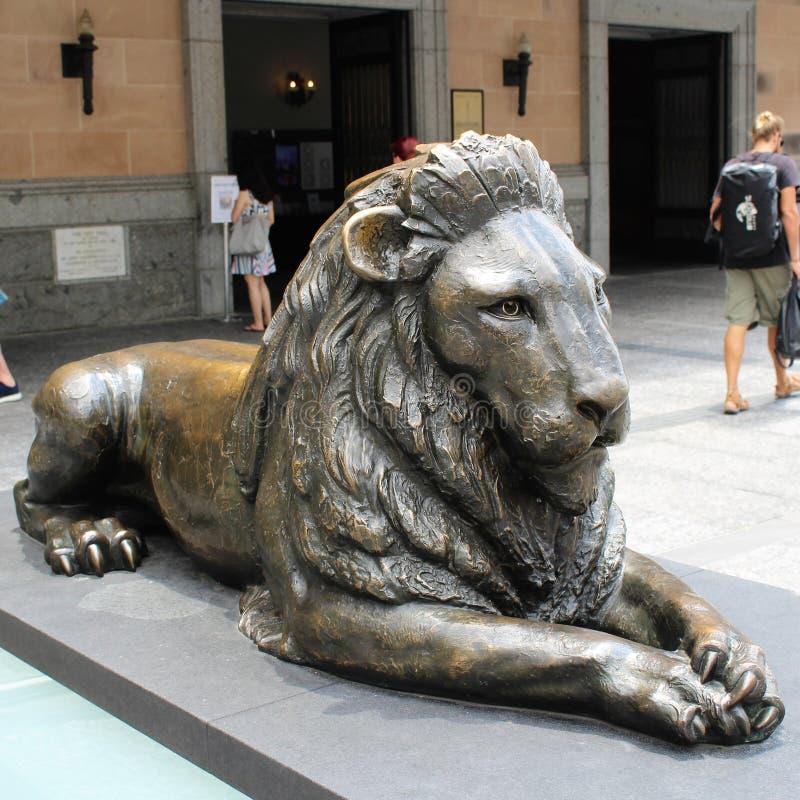 在乔治Square国王的狮子在布里斯班 图库摄影