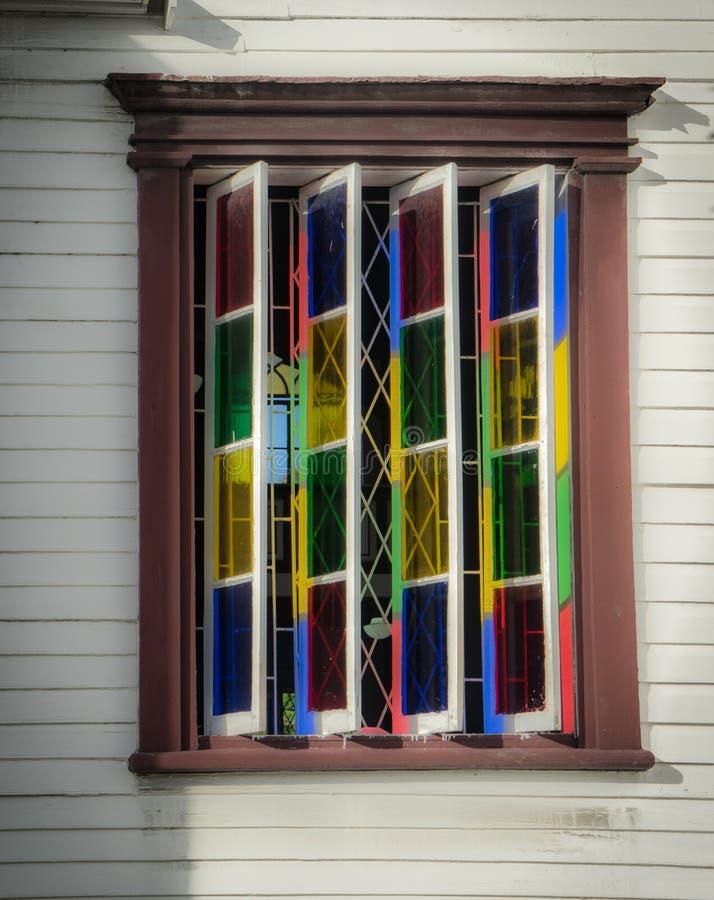 在乔治城,圭亚那附近的历史的窗口 免版税库存图片