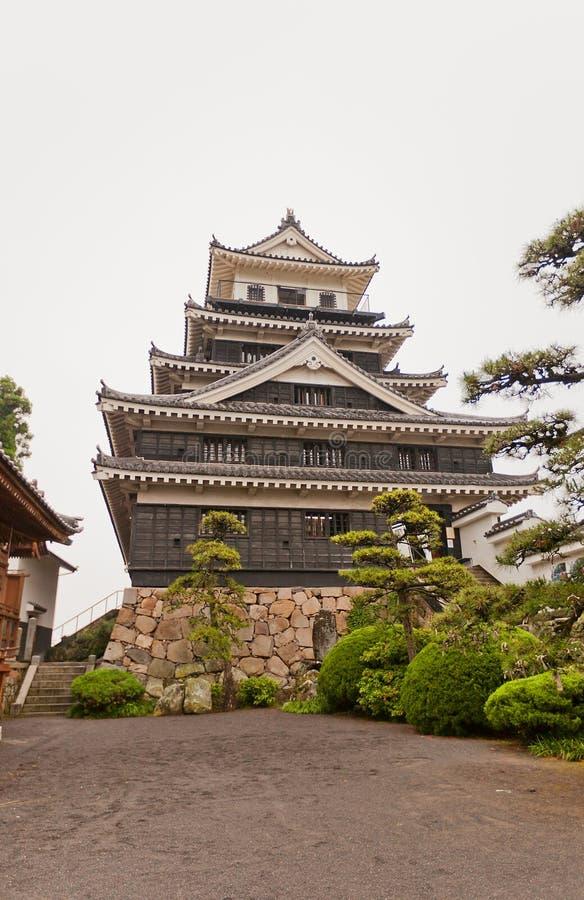 在九州海岛,日本上的Nakatsu城堡 免版税库存图片