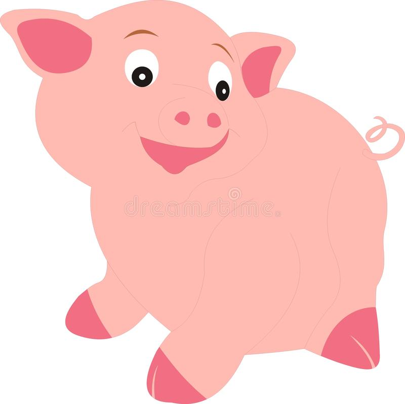 在乡下的养猪场动物 库存照片