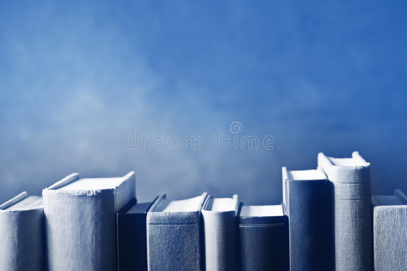 在书架的书 库存照片
