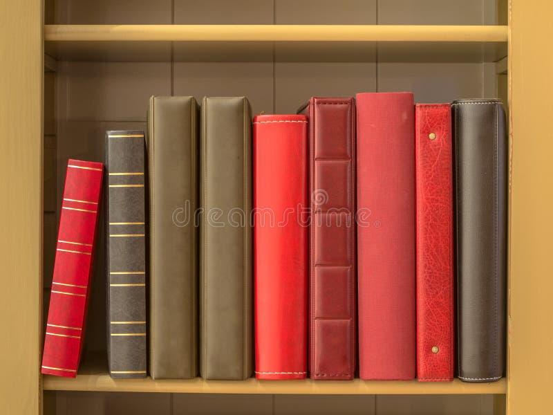 在书架的书 库存图片