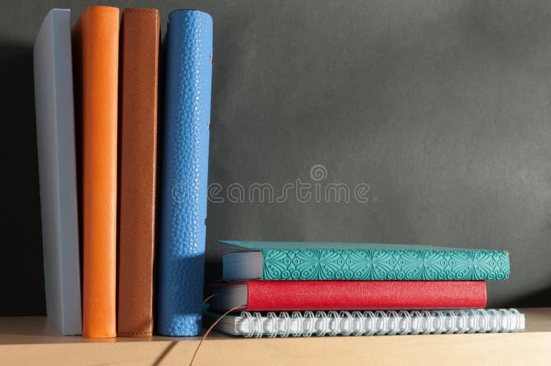在书架的日志 图库摄影
