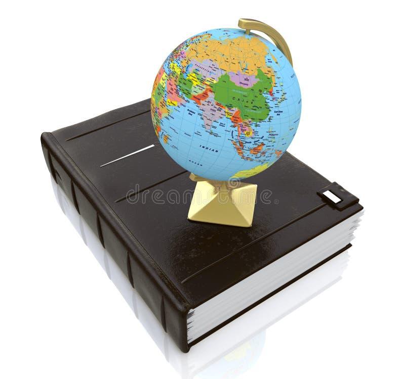 在书的地球 向量例证