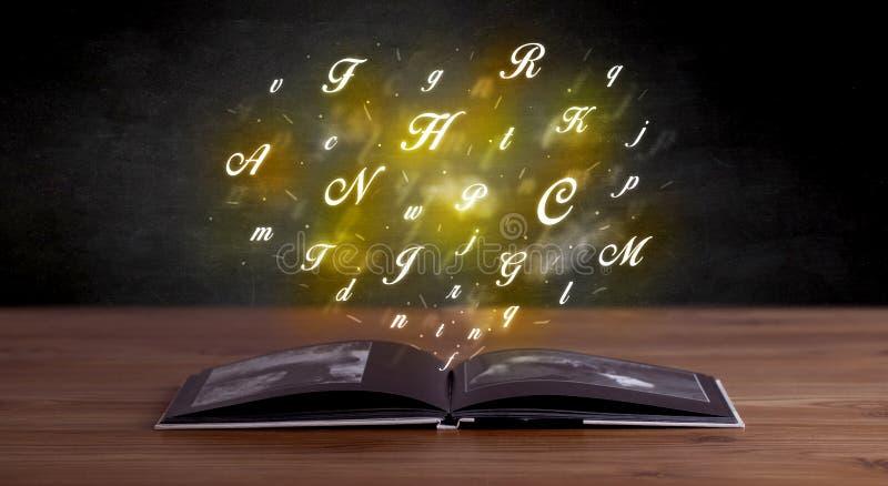 在书的字母表信件 向量例证