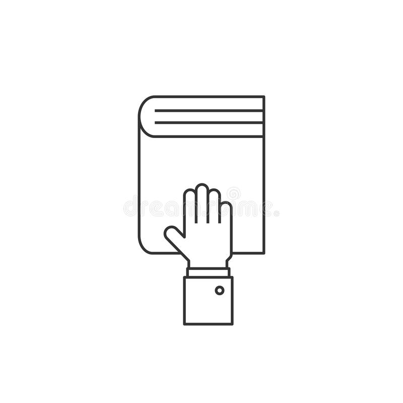 在书线象的手 库存例证