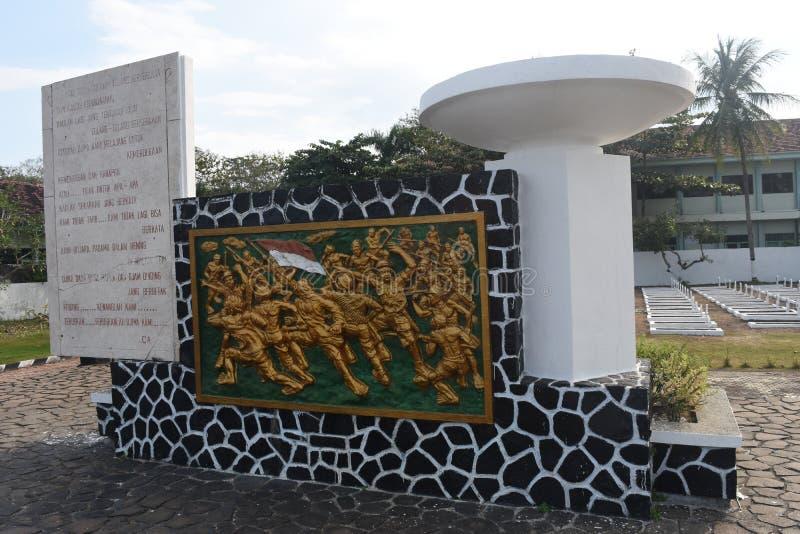 在了不起的爱国的战争印度尼西亚语的安心 免版税库存照片