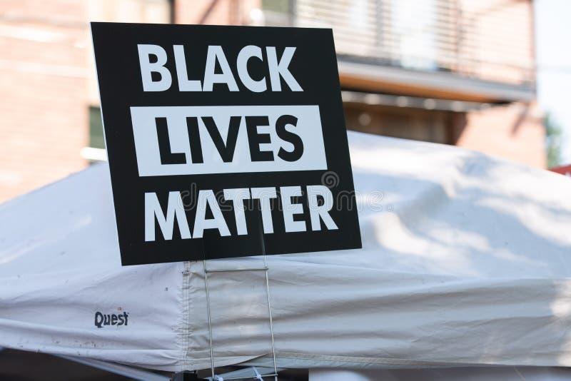 在事件的黑生活问题海报 库存照片