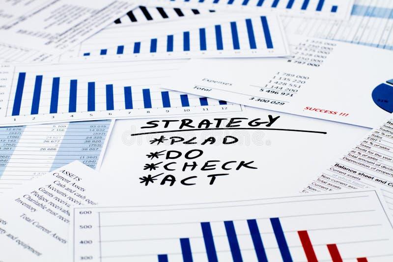 在事务和财务的战略 免版税库存照片