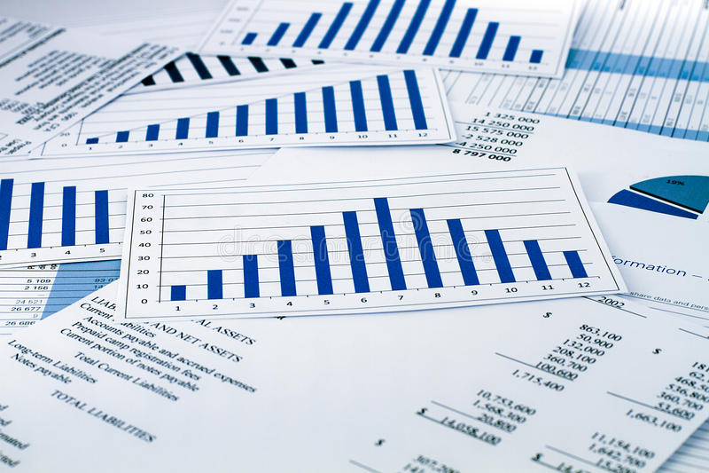 在事务和财务的战略 图库摄影