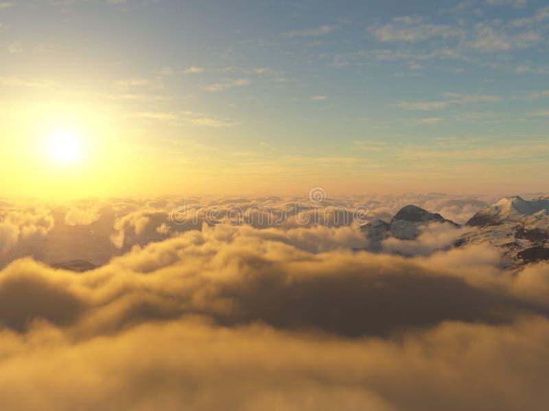 在云彩之上 库存例证