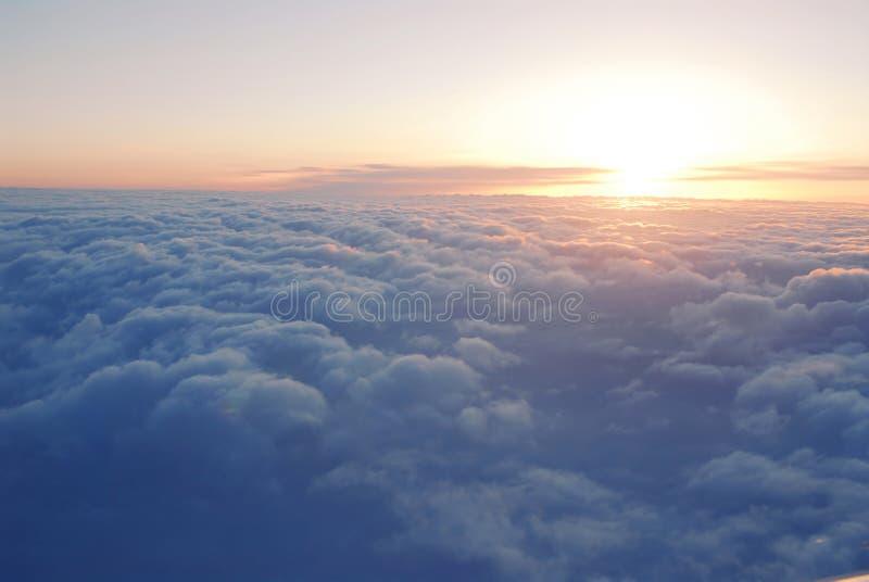 在云彩之上 免版税库存照片